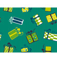 seamless gift box pattern vector image