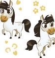 Set of horse isolated on white background vector image