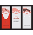three cards of fashion silhouette hipster style vector image