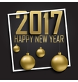 Greeting card invitation with happy New year 2017 vector image