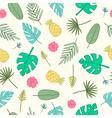 Cartoon tropical pattern vector image