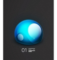 Blue globe concept design template vector image