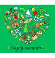 Summer heart vector image vector image