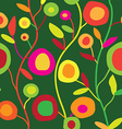 Seamless floral pattern in simple decorative style vector image vector image