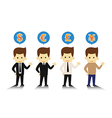 4 Styles business man and currency symbols vector image