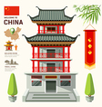 Building of China travel design vector image