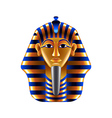 Tutankhamuns mask isolated on white vector image
