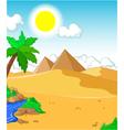 beautiful view of tree cartoon with desert landsca vector image