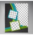 Abstract modern flyers brochure vector image