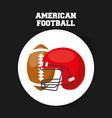 american football sport emblem icon vector image