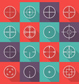 crosshair icon set vector image