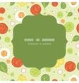 fresh salad circle frame seamless pattern vector image