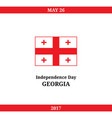 georgia independence day vector image