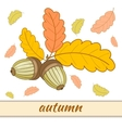 Greeting Card Autumn-3-01 vector image
