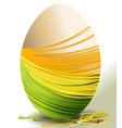 Handcraft Easter egg vector image