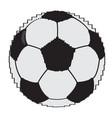 pixelated soccer ball vector image