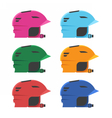 Riding Helmets Set vector image