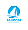 Sailboat - logo concept vector image