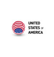 united states of america unusual abstract vector image