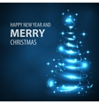 Glowing Christmas tree Christmas tree vector image
