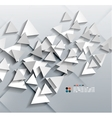 3d paper triangles vector image vector image