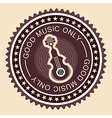 good music label old fashioned vector image