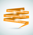 Orange speech bubble made from paper vector image