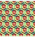 Seamless abstract 3d background with hexagonal vector image