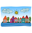 cartoon town vector image vector image