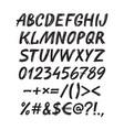 alphabet sketch handwritten font vector image