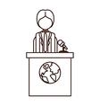 avatar man on tribune for speech vector image