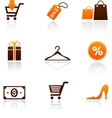 collection of shopping icons vector image