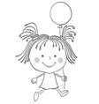 girl baloon vector image