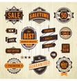 Grunge sale emblems vector image