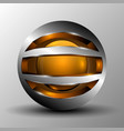 orange circle sphere logo vector image