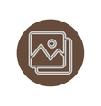 icon on the topic office on circle vector image
