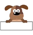 Dog Over A Banner vector image vector image