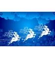 Reindeer pulling Sledge vector image