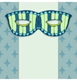 Masquerade mask on a blue background vector image