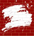 Blot on a brick wall vector image
