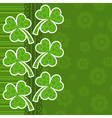 template st patricks day greeting card vector image