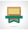 Video clip sign flat color design icon vector image