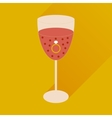 flat icon with long shadow glass of champagne with vector image