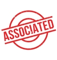 Associated rubber stamp vector image