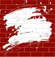 blot on a brick wall vector image