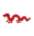 chinese japanese red dragon standing on four paws vector image