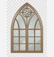 gothic window of wood vector image