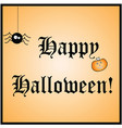 happy halloween card - halloween party vector image