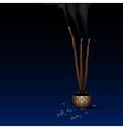 Meditation background vector image