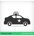 police car flat icon vector image